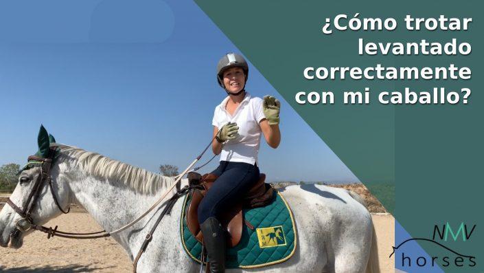 como trotar a la inglesa correctmente con mi caballo