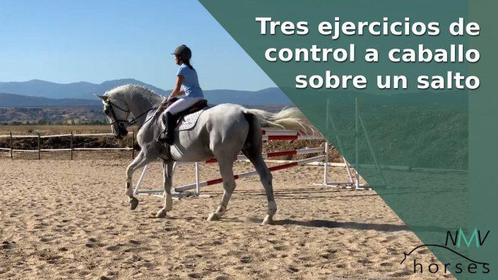 tres ejercicios de control de tu caballo sobre un salto