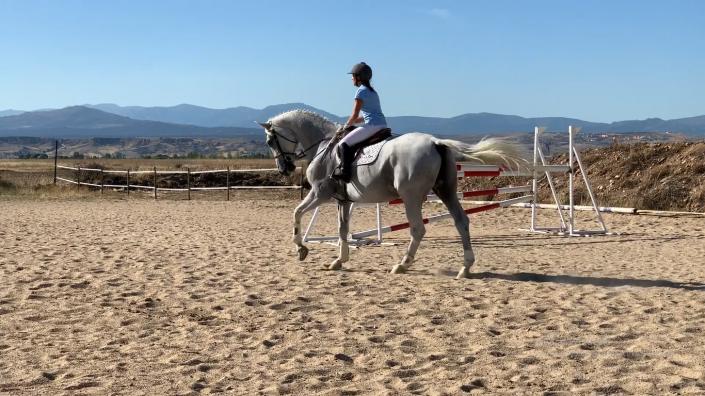 tres ejercicios a caballo