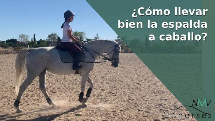 la espalda a caballo